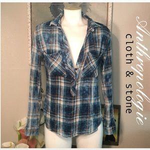 Cloth & stone 100% chambray cotton shirt